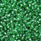 Бисер Preciosa Чехия (уп. 5 г) 57100 св.-зеленый с серебр. центром