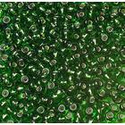 Бисер Preciosa Чехия (уп. 5 г) 57120 зеленый с серебр. центром
