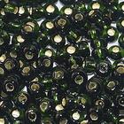 Бисер Preciosa Чехия (уп. 5 г) 57290 т.-зеленый с серебр. центром