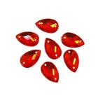 Стразы пришивн. «Астра» (капля) 6*10 мм (уп. 18 шт.) 06 красный