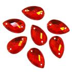 Стразы пришивн. «Астра» (капля) 8*13 мм (уп. 12 шт.) 06 красный