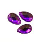 Стразы пришивн. «Астра» (капля) 8*13 мм (уп. 12 шт.) 22 пурпурный