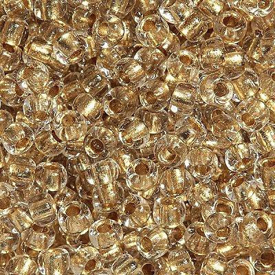 Бисер Preciosa Чехия (уп. 5 г) 68106 прозрачный с бронзовым центром в интернет-магазине Швейпрофи.рф