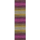 Пряжа СуперЛана Класик Батик (SuperLana Klasik Batik), 100 г / 280 м, 3940 серый + хаки + фиолет.