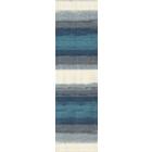Пряжа СуперЛана Класик Батик (SuperLana Klasik Batik), 100 г / 280 м, 4240 белый+серый+синий