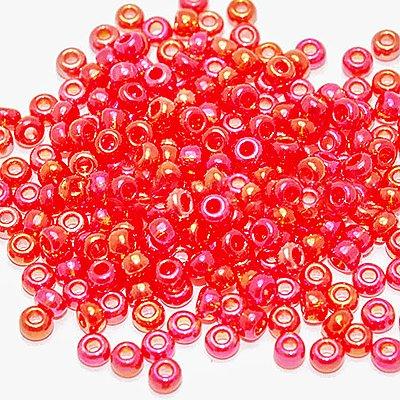 Бисер Preciosa Чехия (уп. 5 г) 91050 красный прозрачный радужный в интернет-магазине Швейпрофи.рф