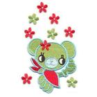 Термоаппликация AD1167 «Мишка с цветами»