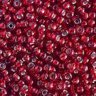 Бисер Preciosa Чехия (уп. 5 г) 97090 т.-красный с серебр. центром