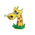 Термоаппликация №2447 «Жираф» (4Б) 6,5*5 см
