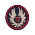 Термоаппликация №2448 «Эмблема с крыльями T» (7а) 5.5*6 см