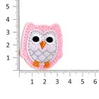 Термоаппликация №2584 «Сова» (5 А) 3,6*3,4 см