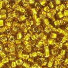Бисер Preciosa Чехия (уп. 50 г) 17050 золотистый с серебр. центром