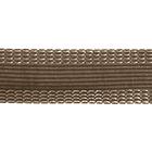 Тесьма брючная 25 мм клеевая рул. 50 м св.коричневый(кофе)