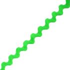 Тесьма вьюнчик 5 мм (рул. 25 м) зеленый