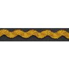 Тесьма вьюнчик 5 мм (уп. 25 м) золото