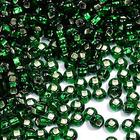 Бисер Preciosa Чехия (уп. 50 г) 57060 зеленый с серебр. центром