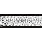 Тесьма вязаная 40 мм 0011 хлопок (рул. 18,3 м) белый