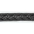 Тесьма вязаная 40 мм 0011 хлопок (рул. 18,3 м) черный
