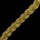 Тесьма металл. 10 мм «Косичка» (уп. 18,28 м)  золото