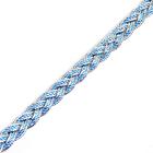 Тесьма металл. 10 мм «Косичка» (уп. 18,28 м) голубой/серебро