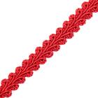 Тесьма отделочная 10 мм ШМ «Шанель» (уп. 18,28 м) №056 красный