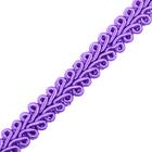 Тесьма отделочная 10 мм ШМ «Шанель» (уп. 18,28 м) №082 фиолетовый
