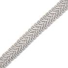 Тесьма отделочная 13 мм ШМ «Шанель» (уп. 25м) №SR012 серый
