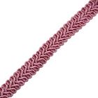 Тесьма отделочная 13 мм ШМ «Шанель» (уп. 25м) №SR025 т.-розовый