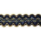 Тесьма отделочная 15 мм AR-003 (уп. 25 м) зол./3162 т. синий