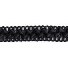 Тесьма отделочная 17 мм «Самоса» (уп. 18 м)  176 чёрный
