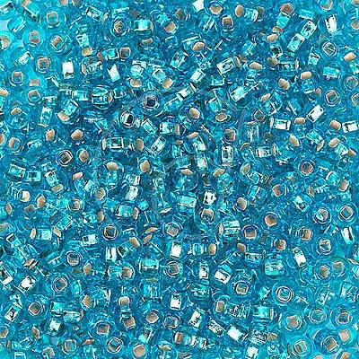 Бисер Preciosa Чехия (уп. 50 г) 67030 голубой с серебр.центром в интернет-магазине Швейпрофи.рф