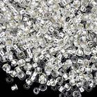 Бисер Preciosa Чехия (уп. 50 г) 78102 белый с серебр. центром