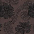 Ткань подкл. вискоза 48%; п/э 52%, №111 коричневый (огурцы+цветы)