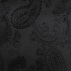 Ткань подкл. поливискон, вискоза 47%; п/э 53% жаккард (шир. 150 см) PV117/bk чёрный
