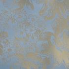 Ткань подкл. поливискон, вискоза 47%; п/э 53% жаккард (шир. 150 см) PV3686/2 голубой/золото