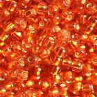 Бисер Preciosa Чехия (уп. 50 г) 97030 оранжевый с серебр. центром