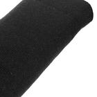 Трикотажное полотно (шир. 40 см) п/ш плотное 001 чёрный