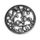 Украшение Микрон GB1328 44*44 мм со стразами «Лоза» 04 никель