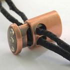Фиксатор мет. GB-1266 со страз. 15 медь