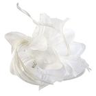 Цветок «Лилия» 6114 брошь-зажим+булавка 14,5 см белый