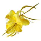 Цветок «Лилия» 6114 брошь-зажим+булавка 14,5 см желтый