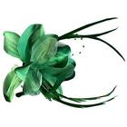 Цветок «Лилия» 6114 брошь-зажим+булавка 14,5 см зеленый