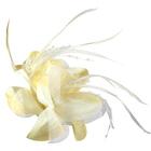 Цветок «Лилия» 6114 брошь-зажим+булавка 14,5 см св.-желтый