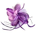 Цветок «Лилия» 6114 брошь-зажим+булавка 14,5 см фиолетовый