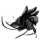 Цветок «Лилия» 6114 брошь-зажим+булавка 14,5 см черный