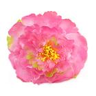 Цветок «Пион» №5 брошь-зажим 13 см розовый