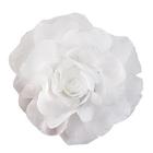 Цветок «Роза» 6108 брошь-зажим+булавка 13 см белый