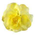 Цветок «Роза» 6108 брошь-зажим+булавка 13 см желтый
