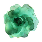 Цветок «Роза» 6108 брошь-зажим+булавка 13 см зеленый