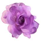 Цветок «Роза» 6108 брошь-зажим+булавка 13 см сирень